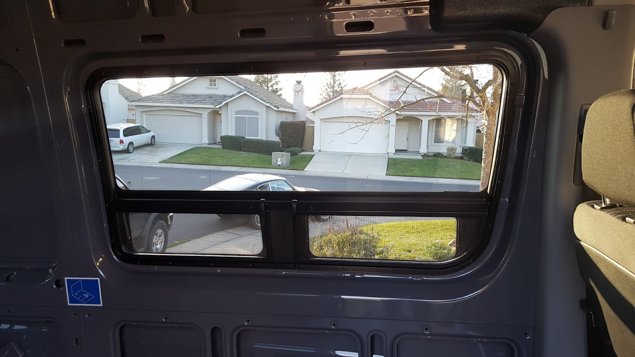 Installing CR Laurence T-Vent Windows in a Sprinter Van